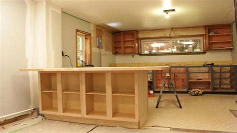 build a bar from stock cabinets diy kitchen island knock it off the live well network