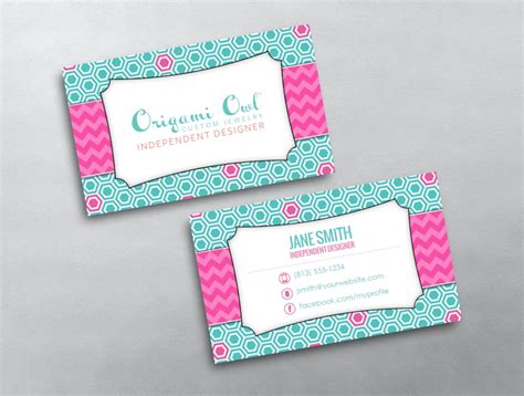 origami business card template origami owl business card 04