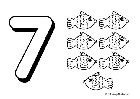 coloring pages of number 7 7 numbers coloring pages for kids printable free digits