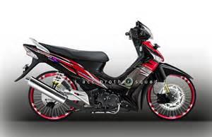 Striping Motor Honda Supra X Wave honda
