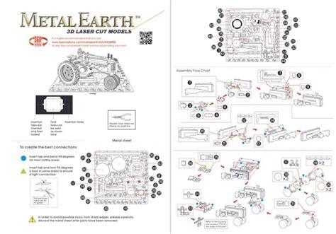 Puzzle 3d Metal Farm Tractor Miniatur Traktor Pertanian Ultra Detail metal earth 3d puzzle traktor puzzle puzzle cz