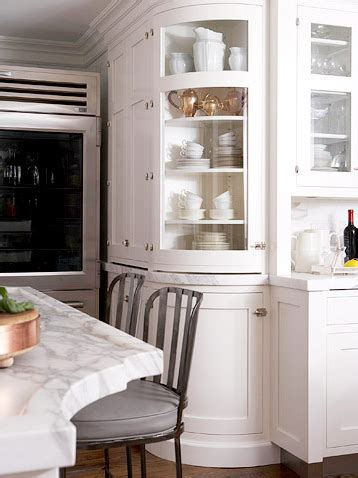 curved kitchen cabinets designer kitchens glass front cabinets simplified bee