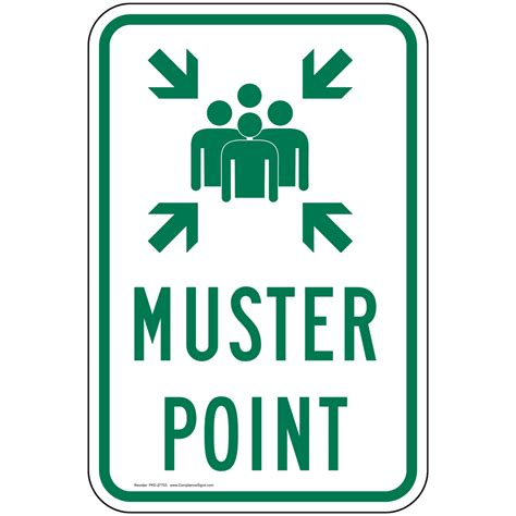 Muster Point Muster Point Sign Pke 27753 Emergency Response Rescue