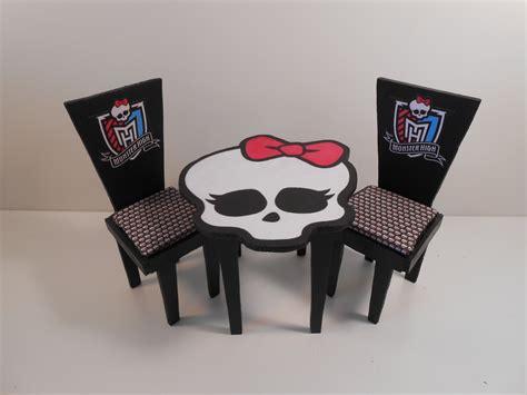 monster high bedroom sets monster high furniture basic black table chairs 2 monster high dolls com
