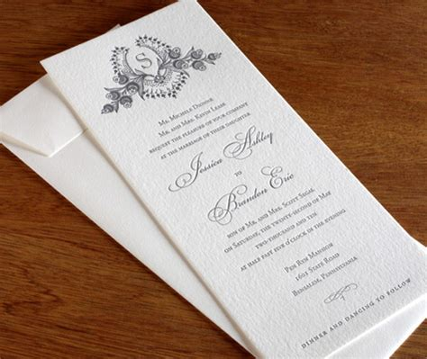 Wedding Invitations With Divorced Parents by Wedding Invitation Wording Divorced Parents Letterpress