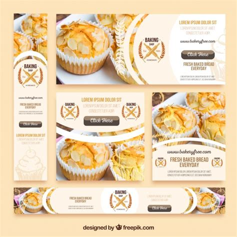 design banner bakery pack of bakery banners vector free download