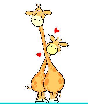 imagenes de jirafas romanticas gifs animados de jirafas rom 225 nticas gifmania