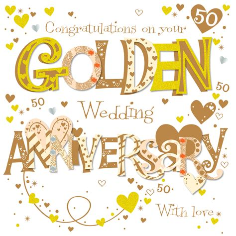 On Golden Th  Ee  Anniversary Ee   Greeting Card Cards