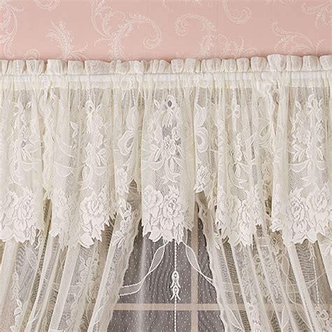 touch of class lace curtains garland lace insert valance 56 x 18 touch of class