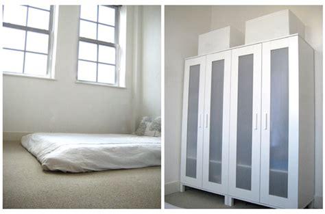 tiny apartment  minimalist bedroom