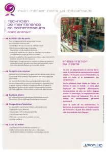 fiche m 233 tier technicien de maintenance en compresseurs