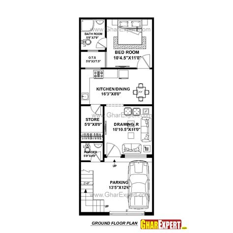 10 Foot By 25 Foot Floor Plan by House Plan For 17 By 45 Plot Plot Size 85