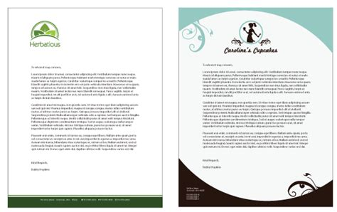 great business letterhead business letterhead templates exles of business