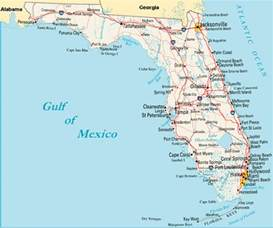 map of florida gulf coast towns search