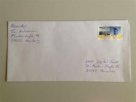 Brief Schweiz Richtig Adressieren Brief Beschriften Absender Empf 228 Nger Richtig Setzen Chip