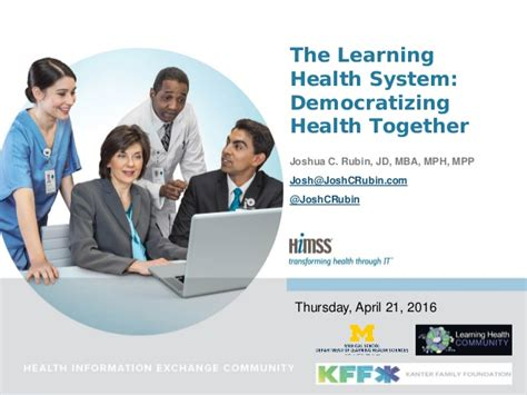 Mph Mba Linkedin by The Learning Health System Democratizing Health Together