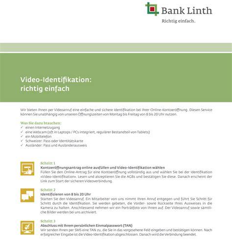 bank linth bank linth kontoer 246 ffnung id simplicity buch