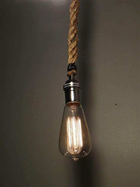 Rope Pendant Light Rope Pendant Light Modern Industrial Chandelier Rustic Lighting Hardwired Or In Swag