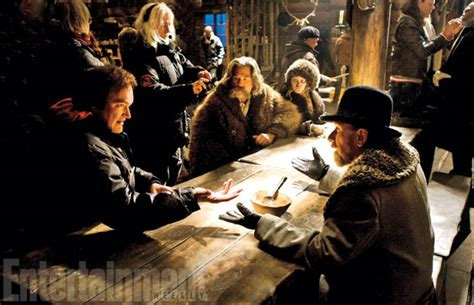 quentin tarantino film the hateful eight the hateful eight pictures show off hats guns and more