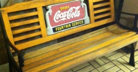 coca cola park bench coca cola cast iron and wood park bench coca cola