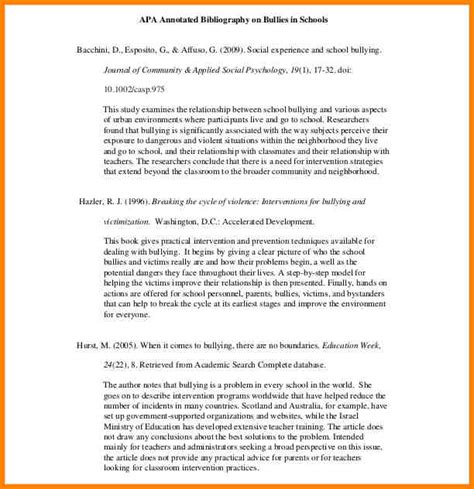 Annotated Bibliography Essay Exle by 5 Annotated Bibliography Apa Sles Annotated Bibliography