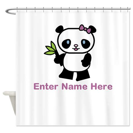 Personalized Panda Shower Curtain By Giftnook