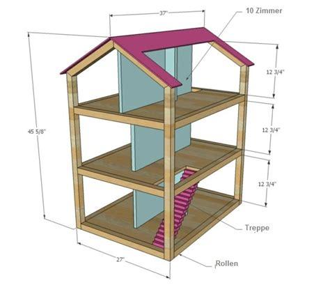 plans for dolls houses for free puppenhaus selber bauen und spielecke im kinderzimmer organisieren