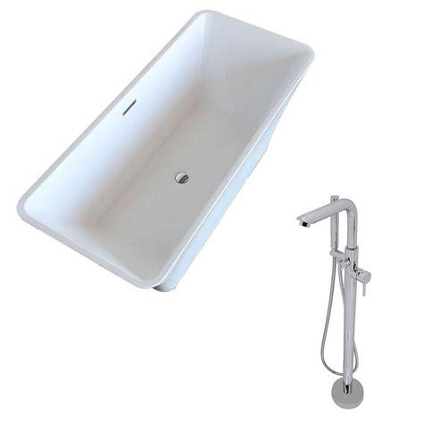 5 foot whirlpool bathtub anzzi arden 5 5 ft acrylic classic freestanding