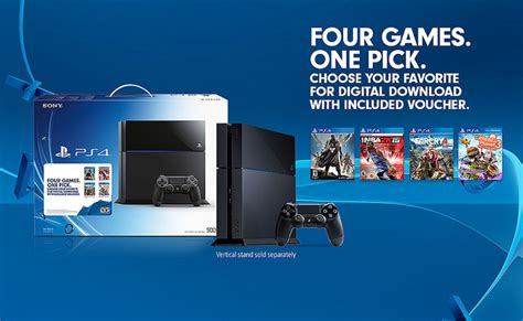 walmart offers new ps4 bundle and 50 gift card for 399 playstation 4