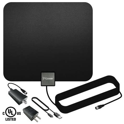 tv antenna costech indoor lified hdtv antenna with detachable signal booster ebay