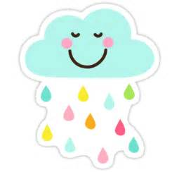 Cloud Stickers For Walls quot cute happy cloud with colorful raindrops sticker