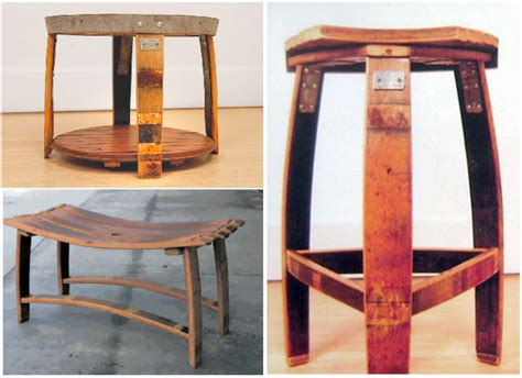Wine Out Of Upholstery by Barrelly Made It Makes Furniture Out Of Oak Wine Barrels