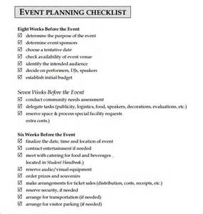 corporate event planning checklist template 10 event planning checklist templates free sle