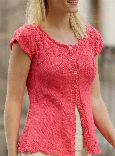 knit pattern short sleeve sweater short sleeve cardigan knitting pattern