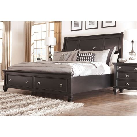 ashley storage bed signature design by ashley greensburg black storage sleigh