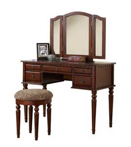 Makeup Vanity Set Cherry New Cherry Wooden Vanities Makeup Mirror Table Stool Set