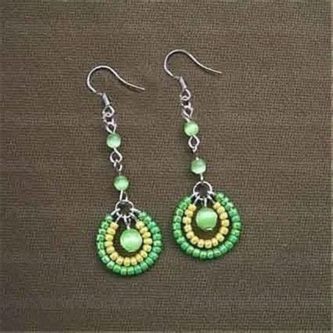 how to make seed bead earrings 4 step seed bead