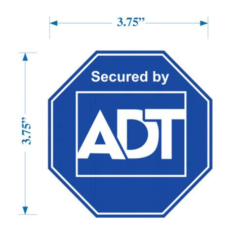 16 adt home alarm security system sticker decals 4