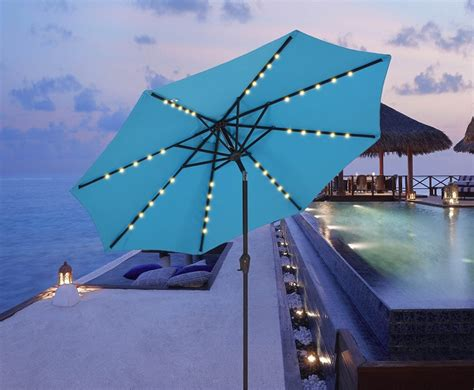 outdoor umbrella with solar lights 5 best patio umbrella with solar lights cheap led