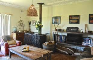 Bohemian home decor living room rustic with armchair coffee table