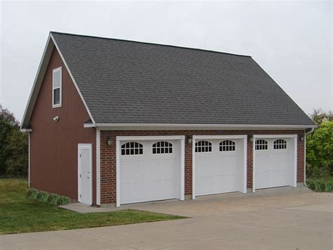 3 car garages 009g 0011 three car garage plan with loft 3 car garage