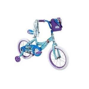 Disney frozen bike girls 12 inch bicycle padded seat training wheels