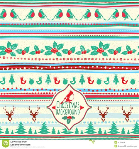 vintage holiday pattern vintage vector christmas pattern stock images image