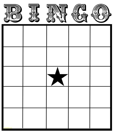 Blank Card Template Doc by Blank Bingo Card Template Microsoft Word Journalingsage