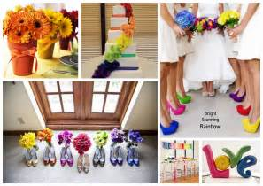 wedding color themes events by tammy 2013 wedding trend 1 rainbow theme