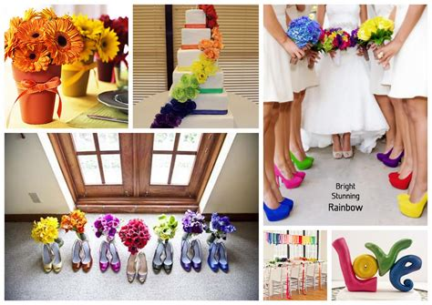 color theme ideas events by tammy 2013 wedding trend 1 rainbow theme