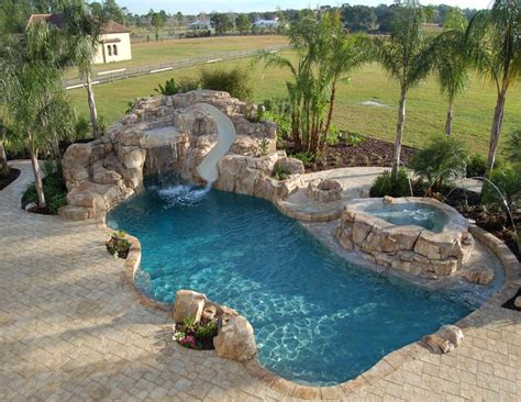 pool designs with slides natural pools this pool was acknowledged for its