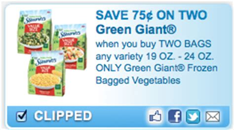 printable frozen vegetable coupons green giant frozen vegetables printable coupons money