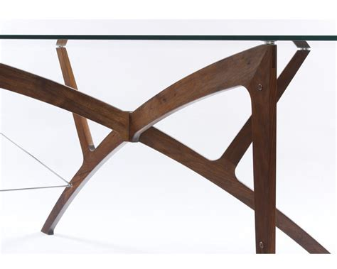 Leap Desk by Wooden Legs Glass Topped Table Futon Company