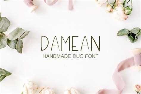Trend Handmade Font - damean handmade duo font creative fabrica